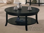 Gardena Round Coffee Table in Dark Espresso Finish by Acme - 8000