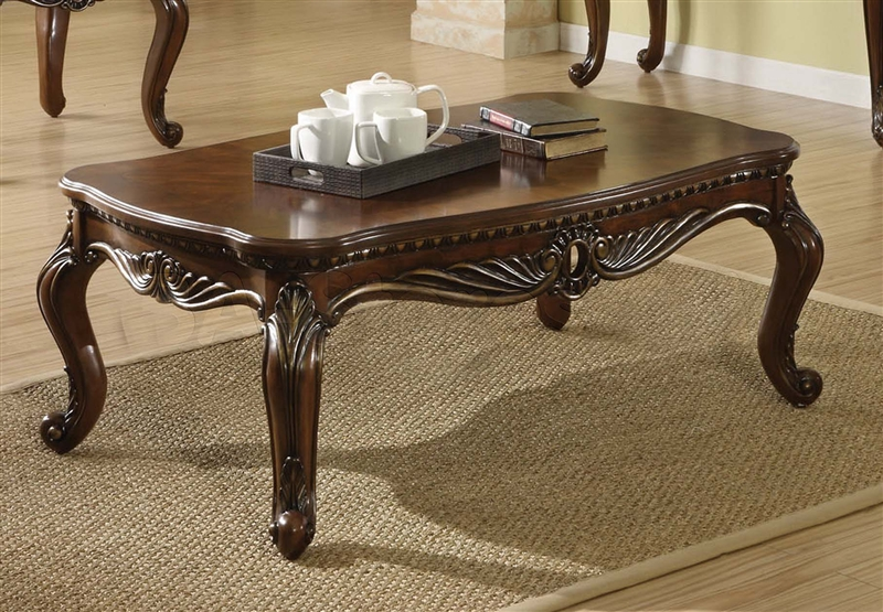 Remington Coffee Table In Brown Cherry Finish By Acme 80064
