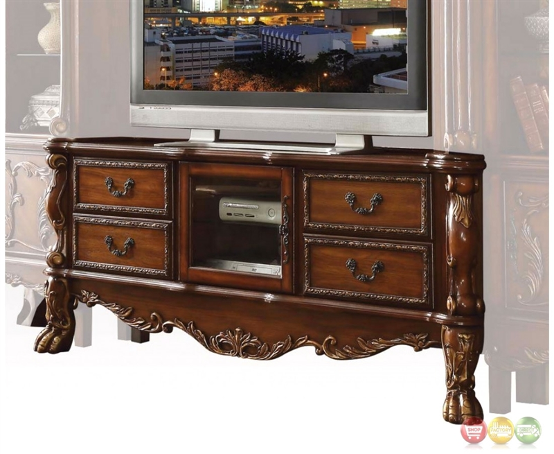 Dresden 79 Inch Tv Stand In Cherry Oak Finish By Acme 91338