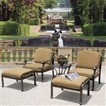 Charleston 5pc Club Chair Outdoor Patio Set by Bridgeton Moore 10632255