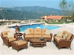 Villanova 6pc Woven Outdoor Living Patio Set by Bridgeton Moore 10725216