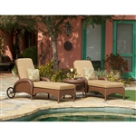 Villanova 3pc Woven Outdoor Living Patio Chaise Set by Bridgeton Moore 10865956