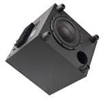 "Atlantic Technology - 8"" Powered Box Subwoofer - Down Firing 100 watt - Black ATL-SB-900-DF-BLK"