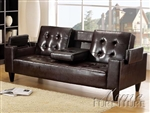 Bruce Espresso Bycast Adjustable Sofa Bed by Acme - 05215