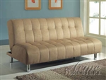Sylvia Beige Microfiber Adjustable Sofa Bed by Acme - 05635