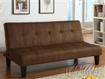 Emmet Chocolate Microfiber Adjustable Sofa Bed by Acme - 05674