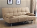 Cybil Beige Microfiber Adjustable Sofa Bed by Acme - 05855
