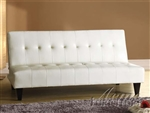 Conrad White Bycast Adjustable Sofa by Acme - 05858