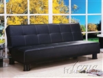 Alberta Black Bycast Adjustable Sofa Bed by Acme - 05998