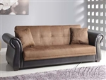 Kela Chocolate Microfiber & Espresso Bycast Adjustable Sofa Bed by Acme - 15294