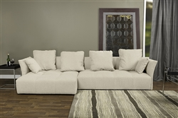 Baxton Studio Abbott Contemporary Beige Fabric Left Facing Sectional Sofa by Wholesale Interiors - BAX-TD4905