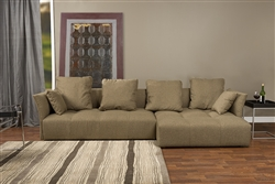 Baxton Studio Abbott Contemporary Brown Fabric Right Facing Sectional Sofa by Wholesale Interiors - BAX-TD4905-B