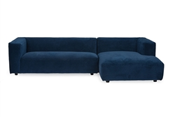 Baxton Studio Acuff Contemporary Blue Fabric Right Facing Sectional Sofa by Wholesale Interiors - BAX-TD4907