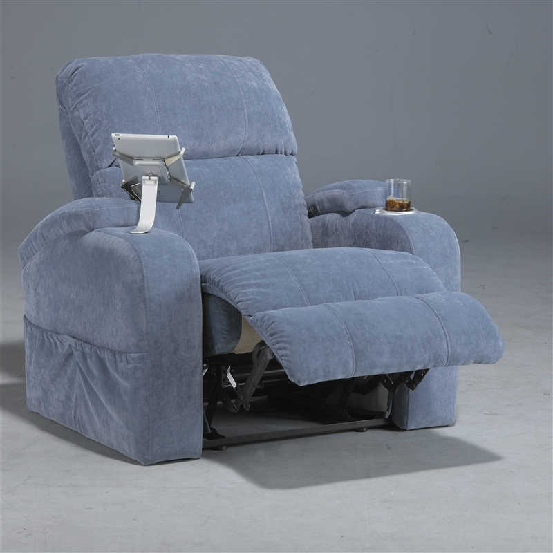 Jackpot manual recline theater seating in lapis color for Catnapper jackpot reclining chaise