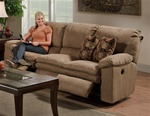 Impulse Reclining Sofa in Cafe Color Fabric by Catnapper - 1241