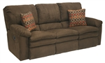 Impulse Reclining Sofa in Chocolate Color Fabric by Catnapper - 1241-G