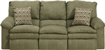 Impulse Reclining Sofa in Moss Color Fabric by Catnapper - 1241-M