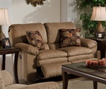 Impulse Reclining Love Seat in Cafe Color Fabric by Catnapper - 1242