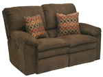 Impulse Reclining Love Seat in Chocolate Color Fabric by Catnapper - 1242-G