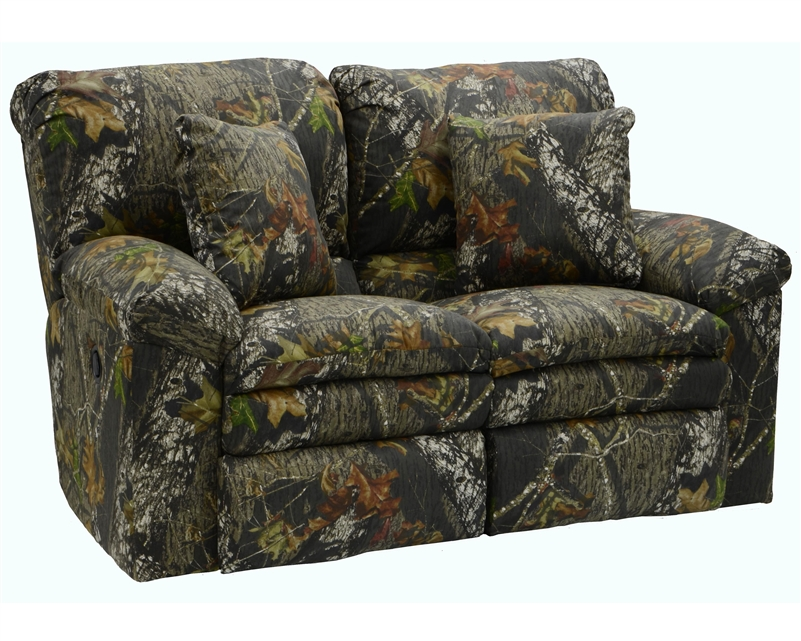 Trapper Reclining Loveseat In Mossy Oak Or Realtree Camouflage Fabric By Catnapper 1302