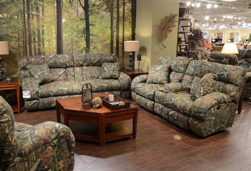 Appalachian 2 Piece Reclining Set In Mossy Oak Or Realtree Camouflage  Fabric By Catnapper   131