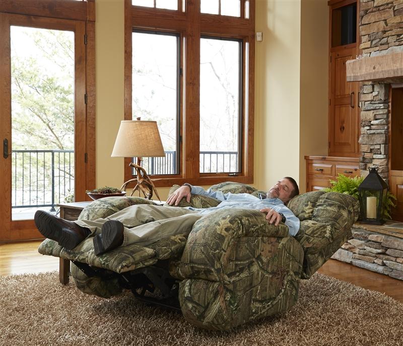 Appalachian Lay Flat Reclining Sofa in Mossy Oak or Realtree ...