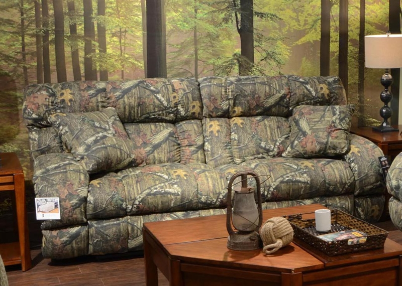Appalachian Lay Flat Reclining Sofa in Mossy Oak or Realtree Camouflage  Fabric by Catnapper   1311Lay Flat Reclining Sofa in Mossy Oak or Realtree Camouflage Fabric  . Realtree Camo Living Room Furniture. Home Design Ideas