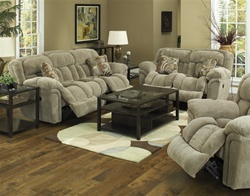 Tundra 2 Piece Reclining Sofa Set in Sage Fabric Upholstery by Catnapper - 1331-S-S