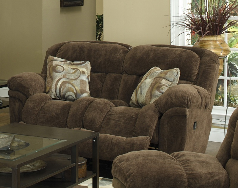 Tundra Rocking Reclining Loveseat in Chocolate Fabric Upholstery by Catnapper - 1332-2-CH & Tundra Rocking Reclining Loveseat in Chocolate Fabric Upholstery ... islam-shia.org