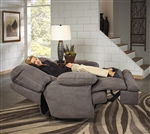 Noble Lay Flat Recliner in Slate Fabric by Catnapper - 1360-7-S