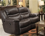 Valiant Rocking Reclining Loveseat in Coffee, Marble or Elk Fabric by Catnapper - 1402-2