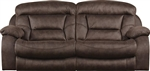 Desmond Lay Flat Reclining Sofa in Mushroom, Marble, or Sable Fabric by Catnapper - 1431