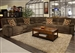 Hammond 3 Piece Reclining Sectional in Mocha, Coffee, or Granite Fabric by Catnapper - 1441-SEC