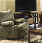 "Gavin Swivel Glider Recliner in ""Foliage"" Color Fabric by Catnapper - 1450-5"
