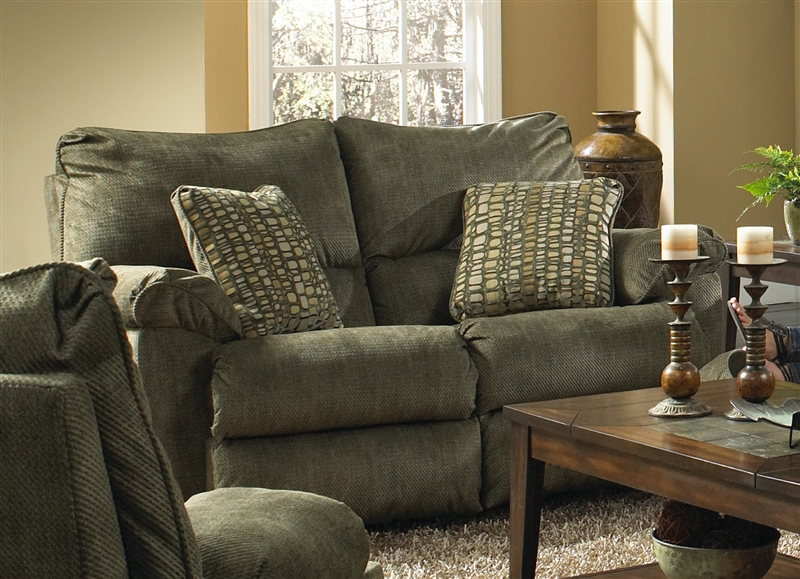 Gavin Rocking Reclining Loveseat In Quot Foliage Quot Color Fabric