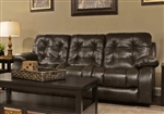 Watson Reclining Sofa in Coal, Almond, or Burgundy Fabric by Catnapper - 1521