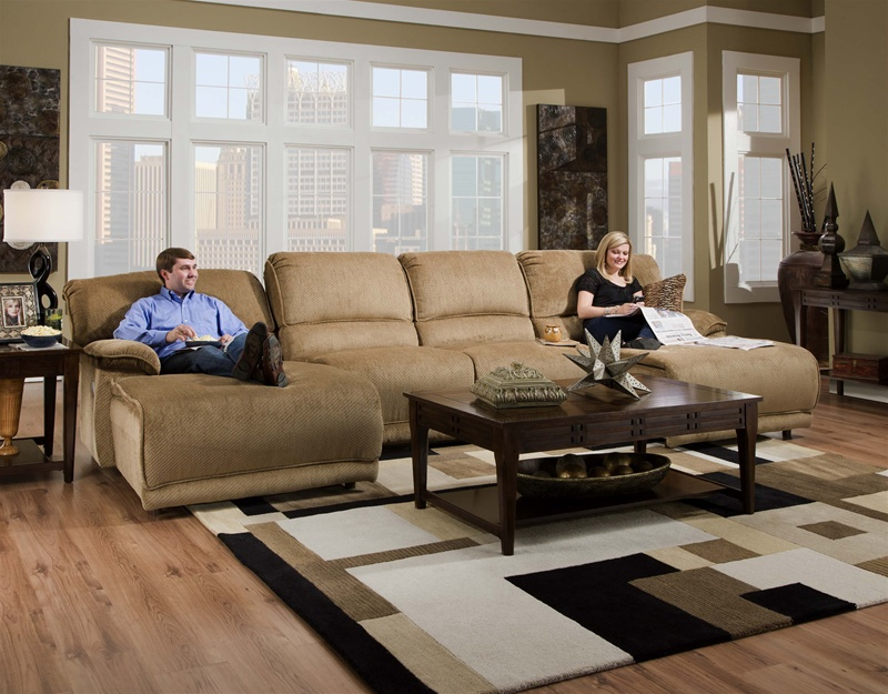 Grandover 4 Piece Reclining Sectional in Sandstone Chenille by Catnapper - 162-4 : catnapper sectionals - Sectionals, Sofas & Couches