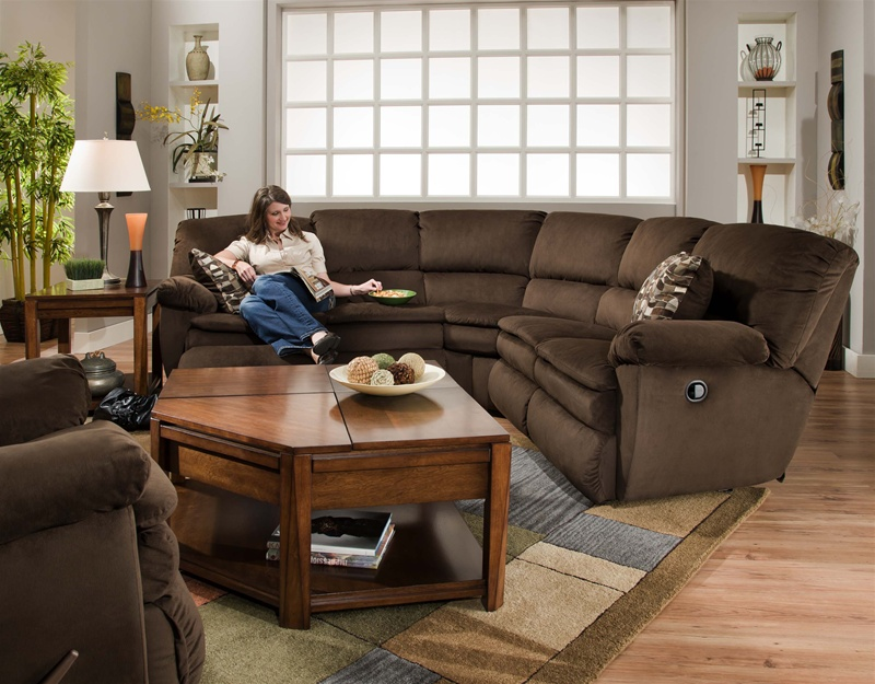 : brown reclining sectional - Sectionals, Sofas & Couches