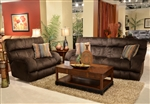"Siesta 2 Piece Lay Flat Reclining Set in ""Chocolate"" Color Fabric by Catnapper - 1761-2"