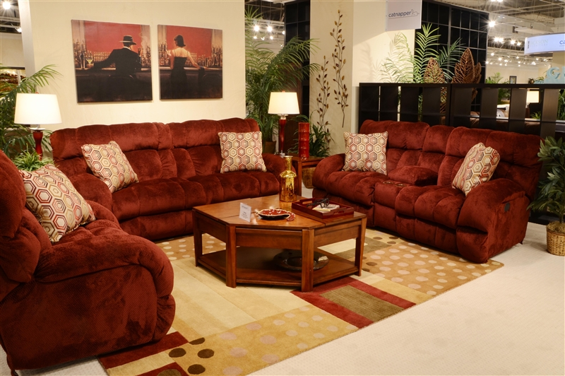 Siesta Lay Flat Reclining Sofa In Quot Wine Quot Color Fabric By