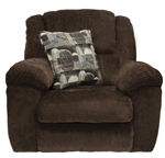 Transformer Chaise Swivel Glider Recliner in Chocolate Fabric by Catnapper - 1940-5-C