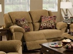 Transformer Rocking Reclining Loveseat in Beige Fabric by Catnapper - 1942-2