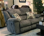 Transformer Rocking Reclining Loveseat in Seal Fabric by Catnapper - 1942-2-S