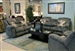 Transformer 2 Piece Reclining Sofa Set in Seal Fabric by Catnapper - 19445-2-S