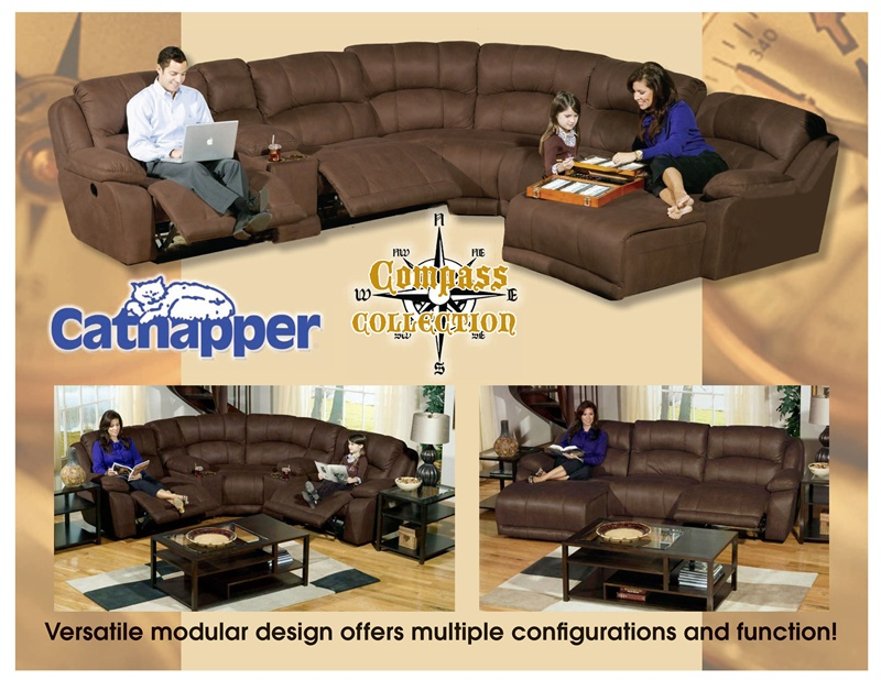 compass fully modular reclining sectional by catnapper build your personal design 199
