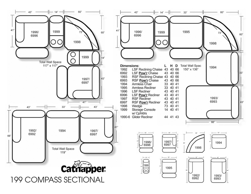 Compass Fully Modular Reclining Sectional by Catnapper - BUILD YOUR PERSONAL DESIGN - 199  sc 1 st  Home Cinema Center : build a sectional - Sectionals, Sofas & Couches
