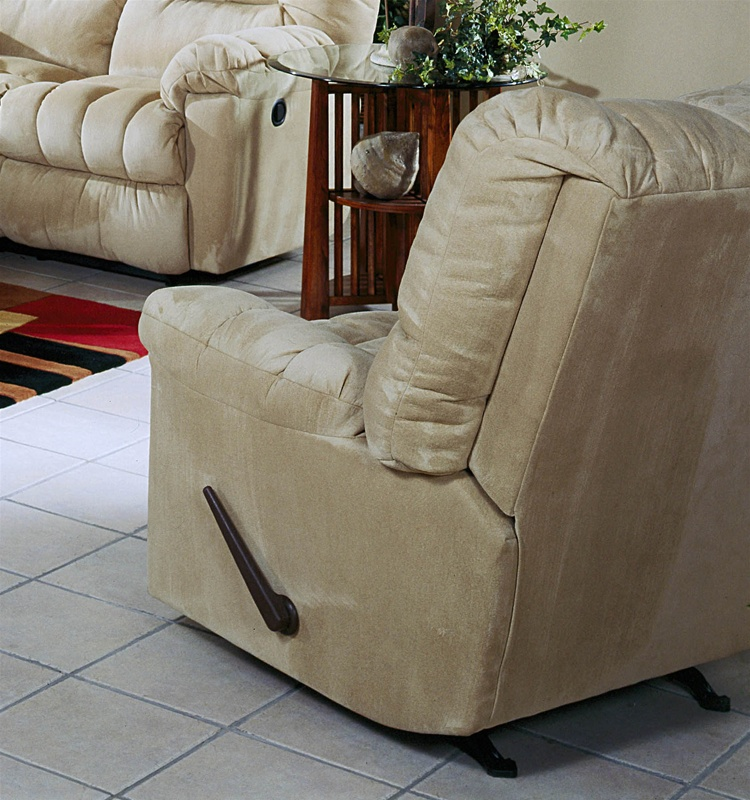 cuddler hazelnut suede cloth chaise rocker recliner by
