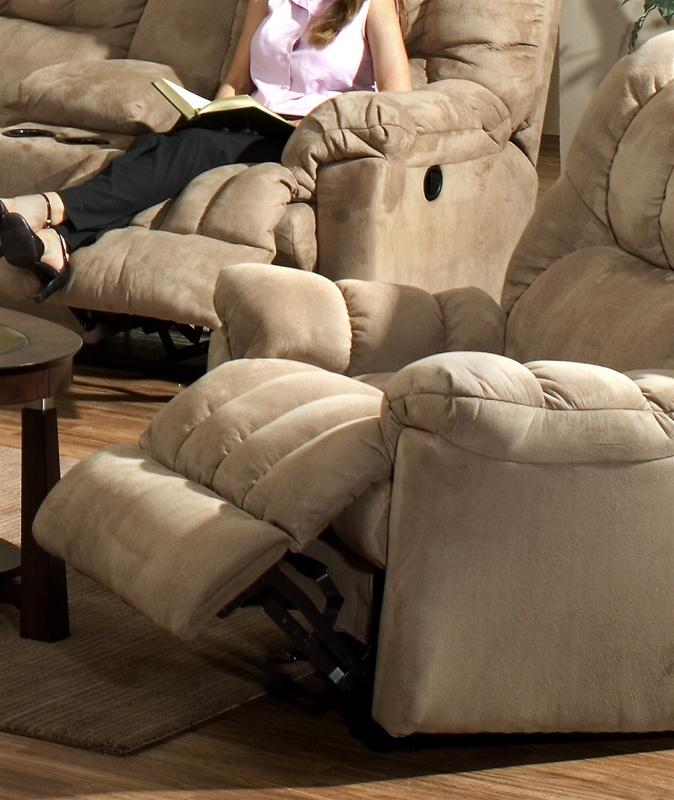 Cuddler Saddle Suede Cloth Chaise Rocker Recliner by Catnapper