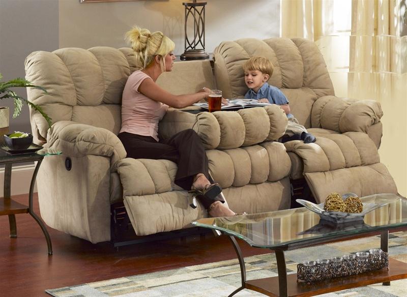 cuddler saddle suede cloth reclining sofa by catnapper manual recline