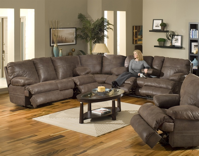 Ranger 3 Piece Manual Recline Sectional In Chocolate